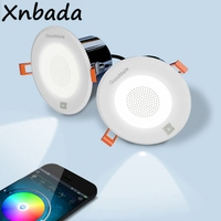 2Pcs Smart Music Dimmable Led Downlight Multifunctional Celling Round Recessed Lamp Light With Extension Cord AC100 240V Input