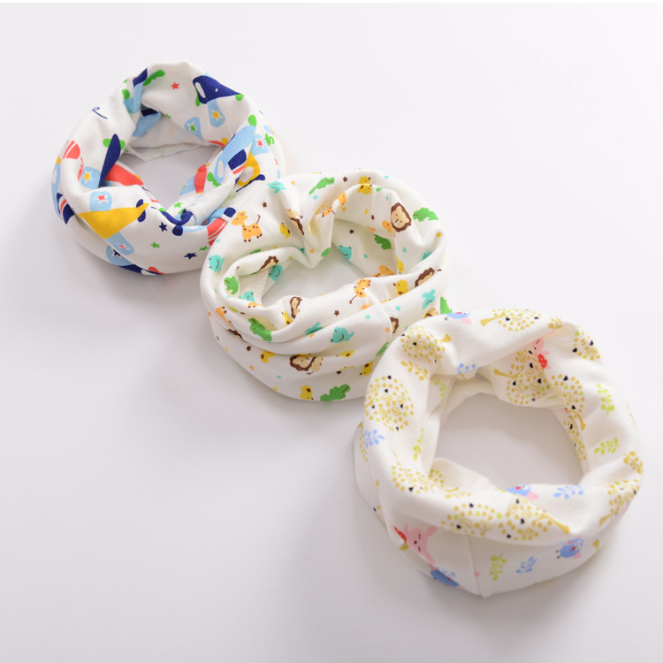 Cotton Baby Scarf for Boys Girls Baby Bibs Burp Cloths Newborn Feeding Baberos Lovely Kids Collars O Ring Neckerchief ...