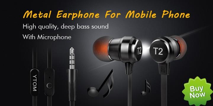 metal earphone T2