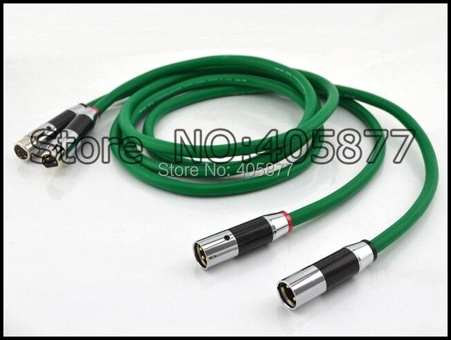 1.5m Pair viborg audio 4N Copper XLR Interconnect audio cable with carbon fiber XLR plug cable