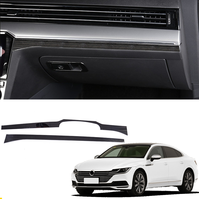 For Left Hand Drive! For VW Volkswagen Passat B8 / Arteon / 5-door Wagon 2017 2018 Steel Interior Control Decorative Cover 2*