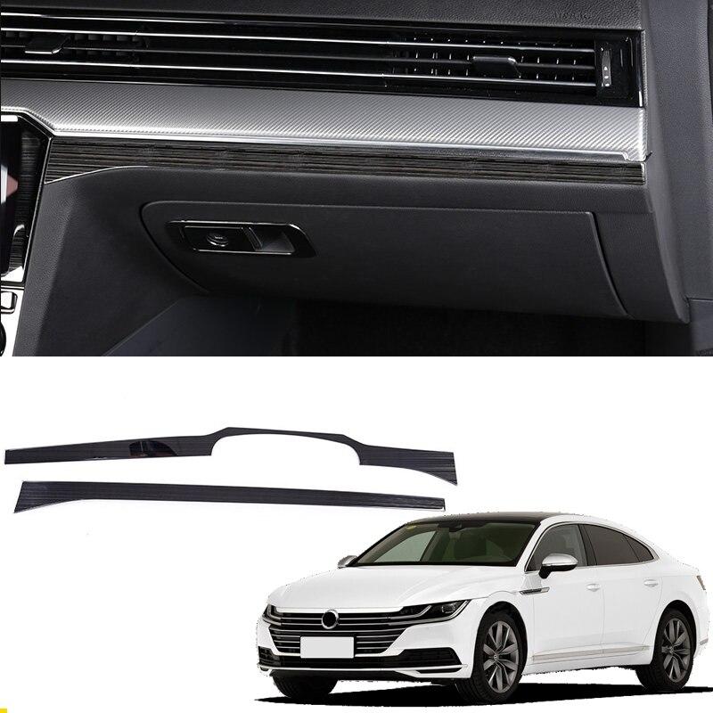Pour conduite à gauche! Pour VW Volkswagen Passat B8/Arteon/5 portes Wagon 2017 2018 acier contrôle intérieur couvercle décoratif 2 *