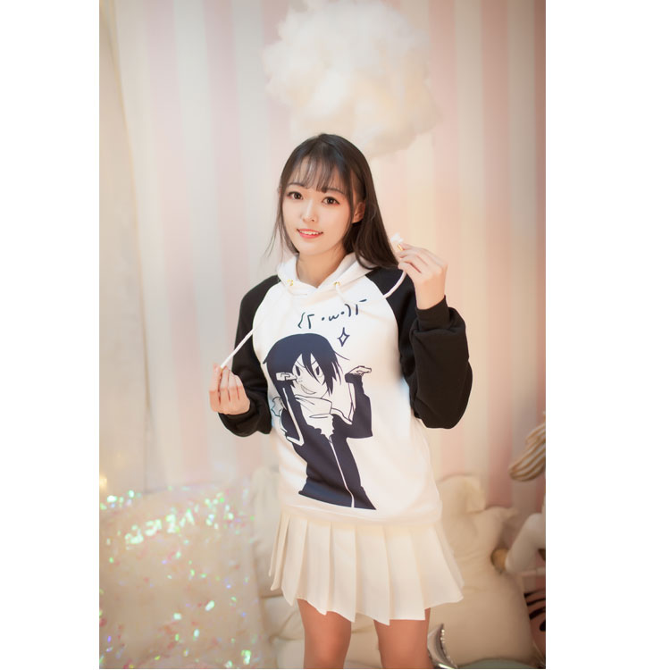 Hot Anime Noragami Cos Yato Hoodie Dress T-shirt Adult Cute Sportswear Fit for Women Men Halloween Party  Cosplay Costume