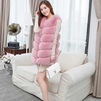 Femmes fausse fourrure gilet manteau hiver veste sans manches manteau femme hiver