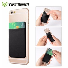 Yianerm Phone Case Credit Card Wallet Holder Stretchy Lycra 3M Sticky Notes Ultra Slim Bus Pocket Pouch for Most Smartphone