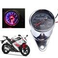 Новый Универсальный Мотоциклов Двойного Пробега Спидометр Gauge Speedo Метр СВЕТОДИОДНОЙ Подсветкой Цифровой singal Света для Yamaha Kawasaki ATV
