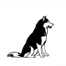 Наклейка на автомобиль с собакой, наклейка на окно, милые и интересные модные наклейки, наклейки