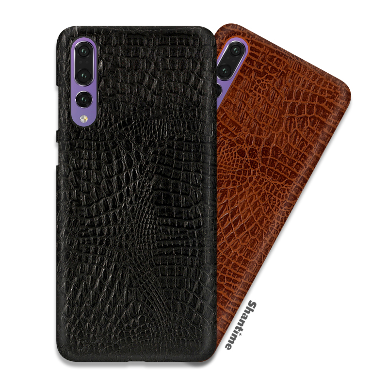 Vintage Crocodile Skin PU Leather Case For Huawei Enjoy 9 Phone Case For Huawei Y7 Pro 2019 Business Style Case