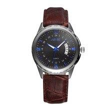 2016 de La Moda Masculina de Relojes Deportivos Para Hombre Relojes de Primeras Marcas de Lujo Famoso Cuero de Los Hombres reloj de Cuarzo Relogio masculino Relojes