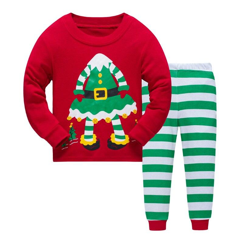 P890, Christmas, 6sets/lot, Children girls pajamas, 100% Cotton Rib long sleeve sleepwear/clothing sets for 2-7T