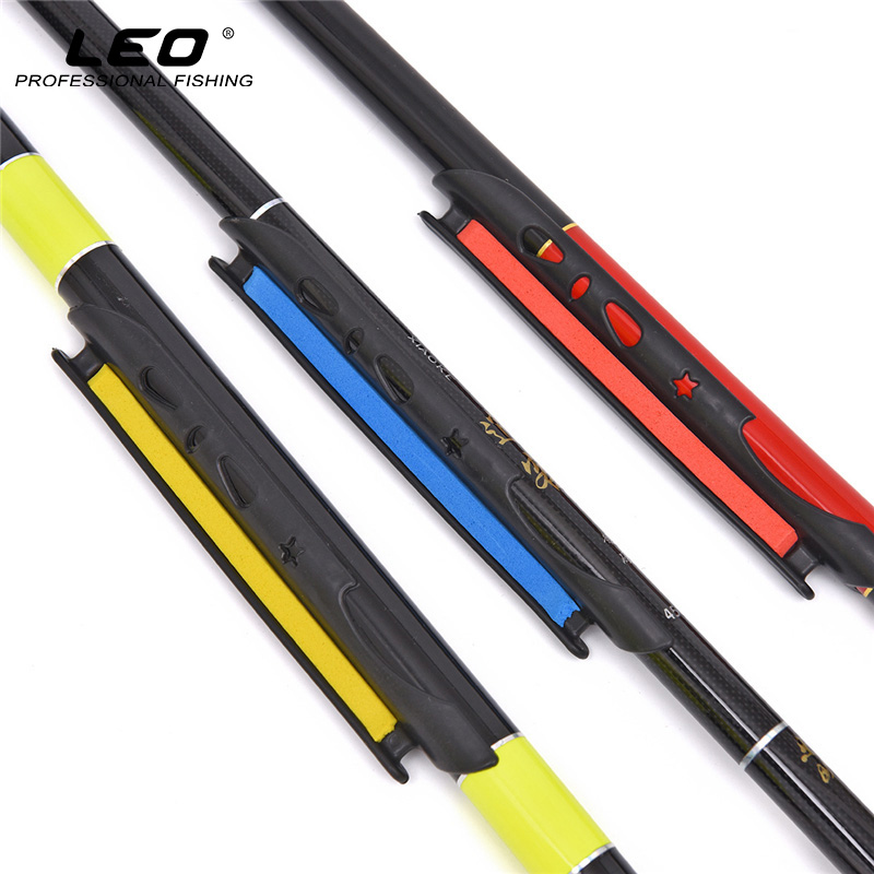 LEO 2pcs Plastic Fishing Coiling Plate Clip On Rod EVA Fishing Line Holder Lines Winding Plate Fishing Accessories