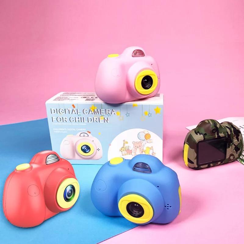 2019 New HD Screen Dual cameras Children Educational Sports photography cute cartoon Mini Digital Photo Camera
