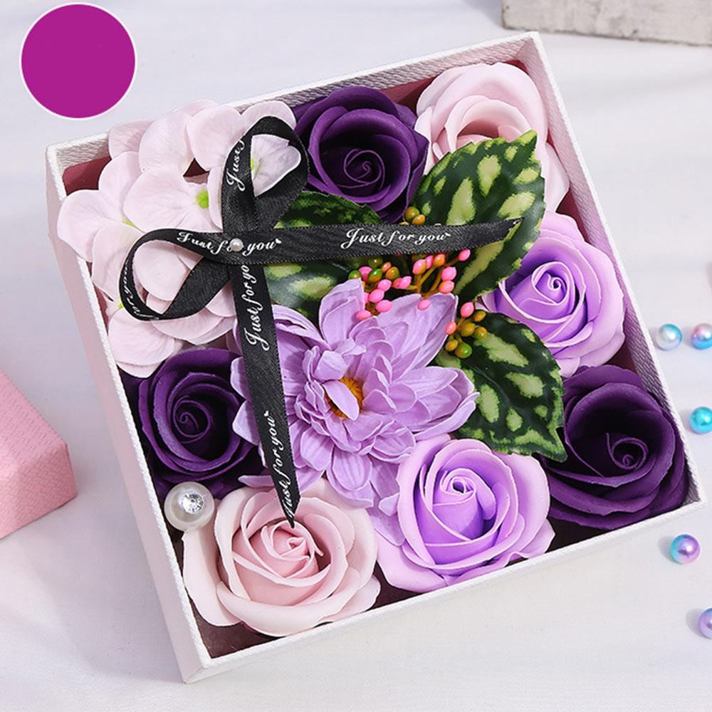 Мягкие искусственные лепестки мыло цветок украшение дома праздник креативная Подарочная коробка Роза Гвоздика декоративные гортензии цветок