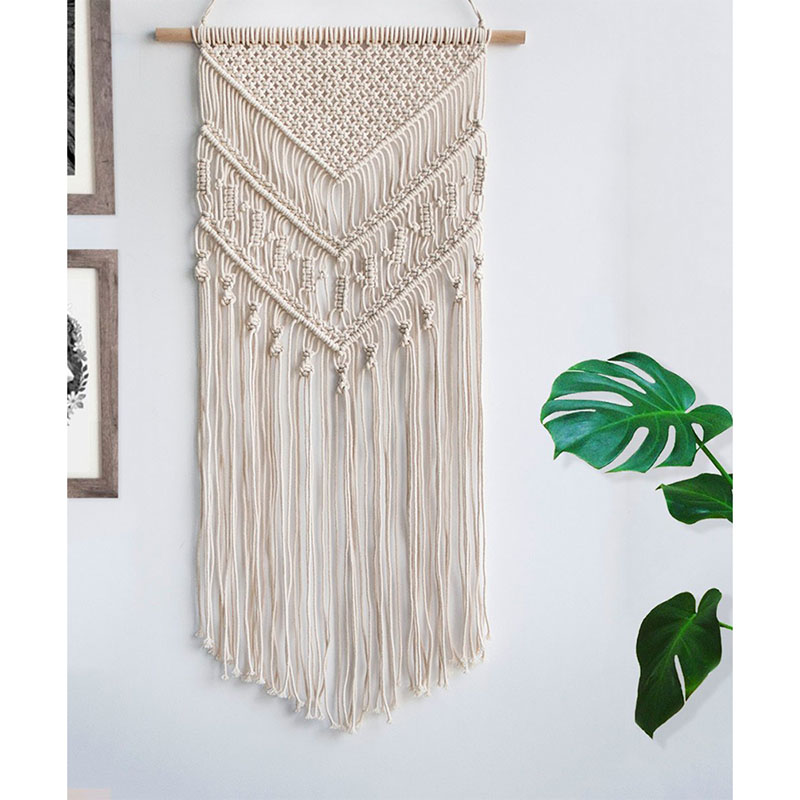Macrame Woven Wall Hanging Tapestry Handmade BOHO Chic Bohemian Art Wall Decor