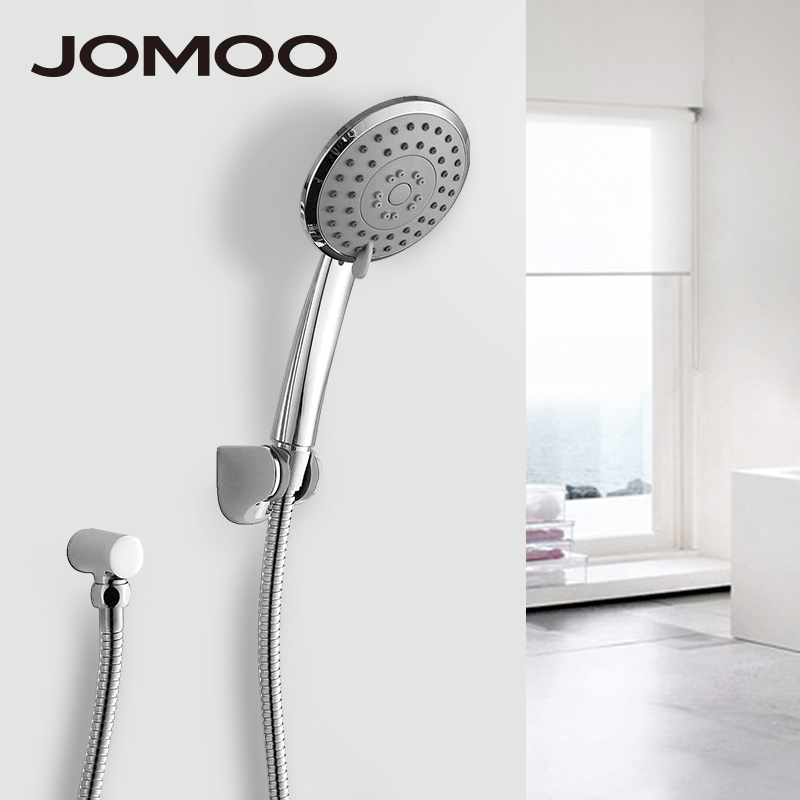 JOMOO 4 inch 3 jet Bathroom Shower Head Chrome Hand Shower With Wall Bracket Stainless Steel Hose ducha chuveiro water saving jomoo 4 inch 3 jet bathroom shower head chrome hand shower with wall bracket stainless steel hose ducha chuveiro water saving