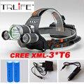 10000LM СВЕТОДИОДНЫЕ Фары 3x CREE XML T6 4 Режимов Аккумуляторная Фара Фара Прожектор Для Охоты + Зарядное Устройство (США ЕС AU) + 2 ШТ. 18650