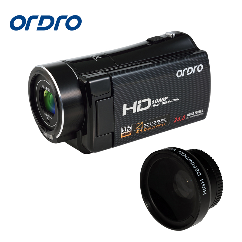 Ordro HDV-V7 24MP HD 1080P Video Camera 3 LCD Screen Remote Control HDMI 5MP CMOS 16x Digital Zoom Home Use Camcorder