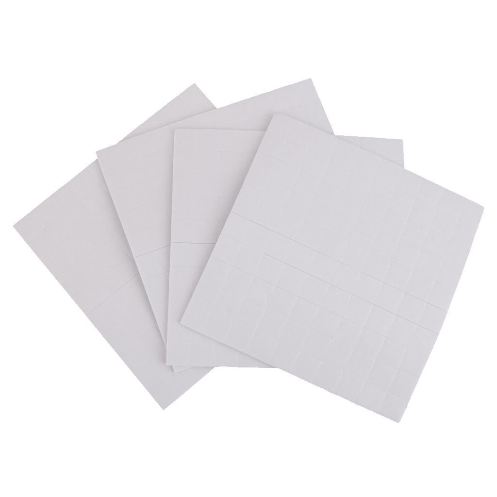 400pcs Double Sided Adhesive Foam Pads/Squares Sticky Fixers 3D Effect 3mm