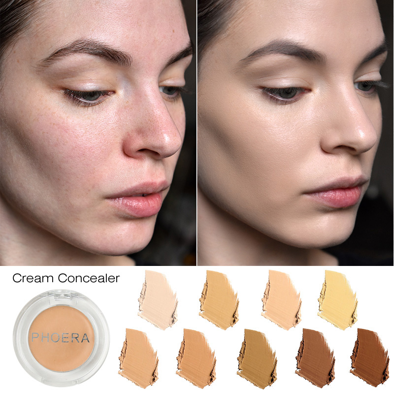 PHOERA Natural Mineral Whitening Facial Concealer Cover Pore Wrinkle Brighten Moisturizer Face Foundation Makeup Primer TSLM1 maxfasfer base makeup foundation liquid primer moisturizer waterproof whitening concealer brighten matte long lasting cosmetic
