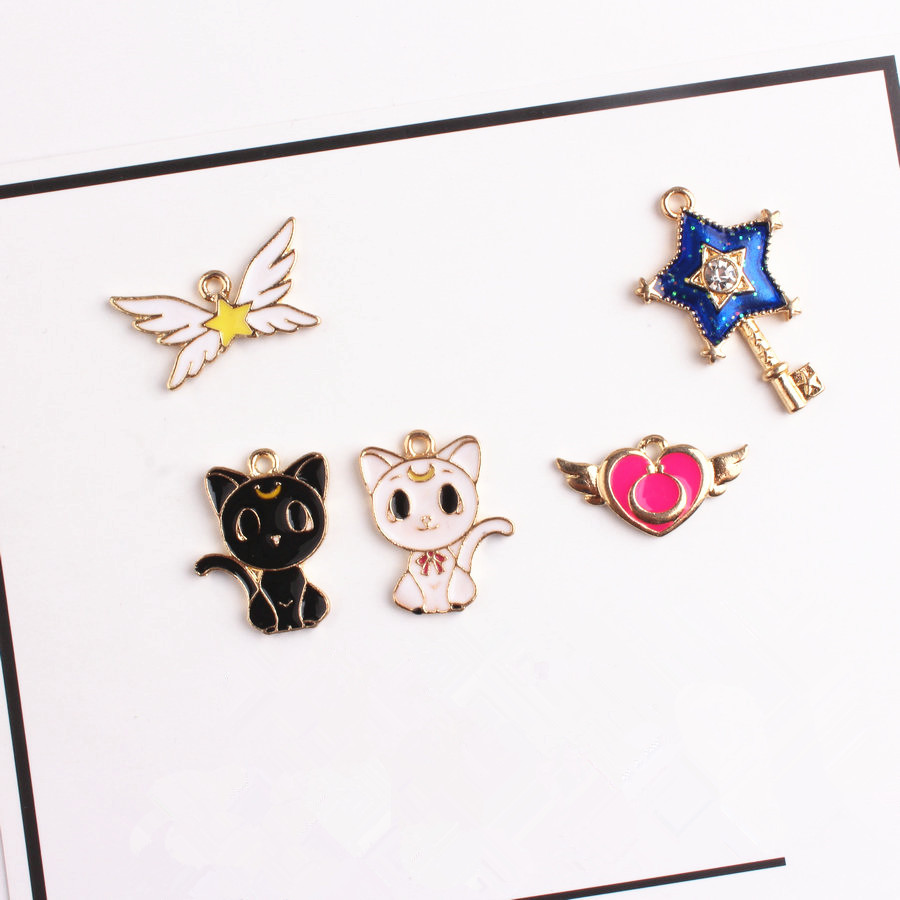 Lot Japanese anime cat Flowers Charms Jewelry Making Pendants Earrings DIY