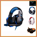 Alta calidad kotion each g2000 deep bass gaming headset auricular de la venda de auriculares estéreo con micrófono y luz led para pc gamer