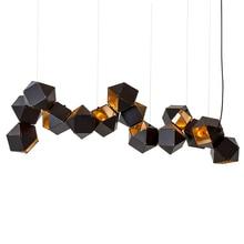 Post Modern DNA Pendant Light 14pcs Metal box Creative For Restaurant Studio Home Hanglamp Lamp E14 LED bulb New arrival