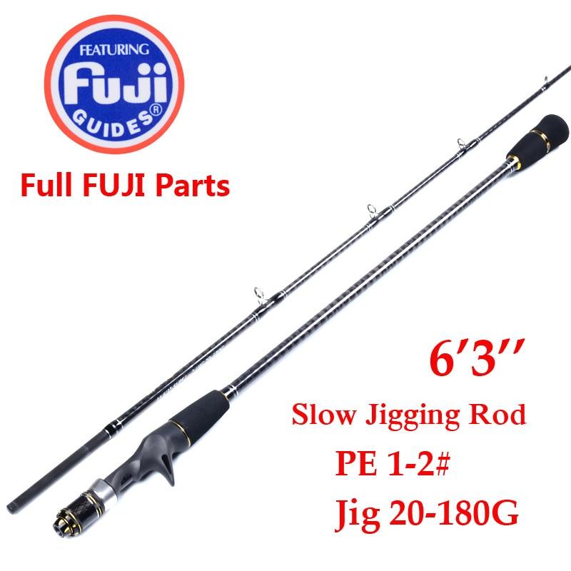 Japan made 1 9m 2 Section Jigging Rod Fishing Rod FULL FUJI PARTS REEL SEAT AND