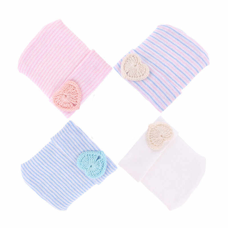 Baby Hats Newborn Knitting Warm Fashion Soft Cotton Infant Sweet HeartToddler Girl Caps Beanie Hat