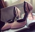 20 .. Nuevo 2016 marca Sexy Mujeres Bombas Rojas Tacones Altos Tachonado de Spike Punta estrecha de Tacón Alto Zapatos de Vestido de Partido mujer