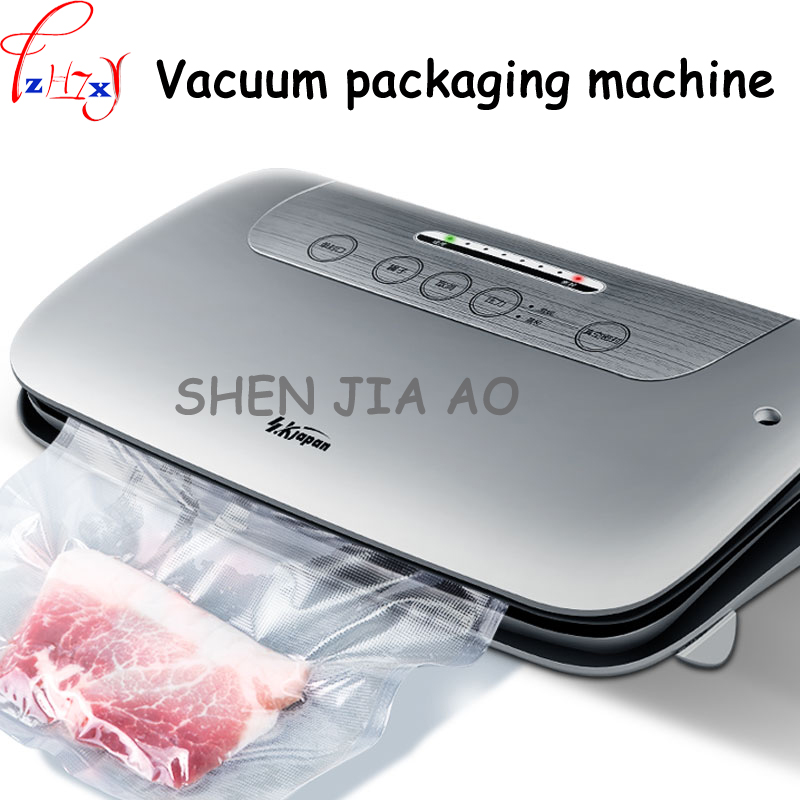 1 PC 220V 100W Automatic small household multi - functional food vacuum packaging machine wet and dry vacuum sealing machine free shipping full automatic dry wet dual purpose small household vacuum sealing machine plastic commercial food packaging
