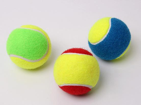 3 pcs pacote colorido 63 66mm de DIÂMETRO bolas de tênis bola de tênis de  Treinamento bola de tênis (3 cor aleatoriamente pack) em Bolas de tênis de  Sports ... 7d51cb3e5dc14