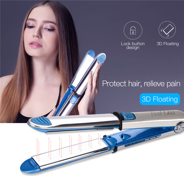 Профессиональные щипцы для выпрямления волос щипцы для завивки Nano Titanium плоский керамический Утюг для волос светодиодный Электрический выпрямитель