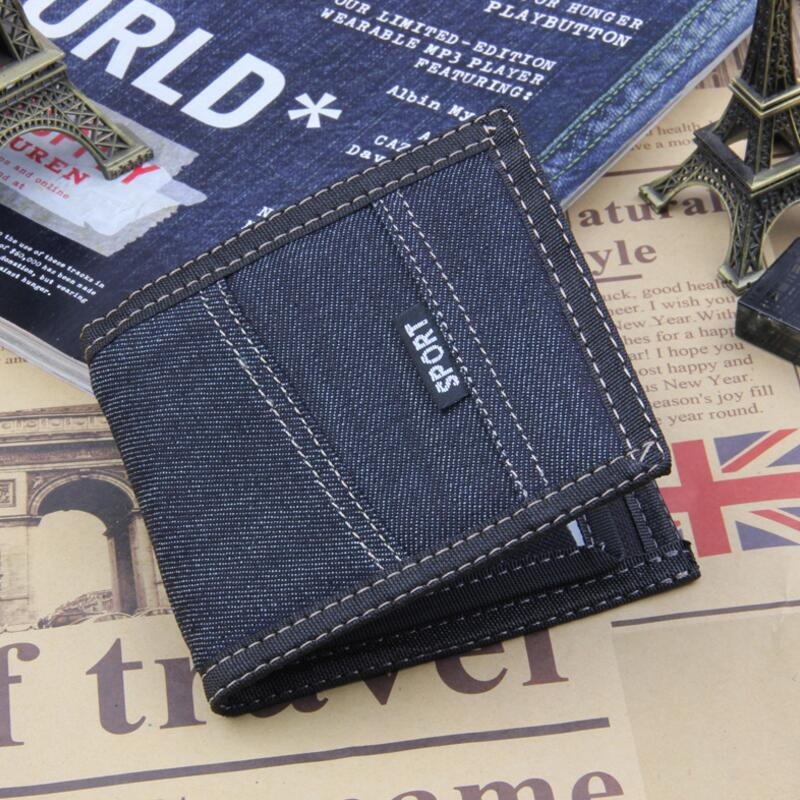 Leisure Fashion Wallet Men Top Quality Card Holder Small Wallet Canves Purse Male Money  ...