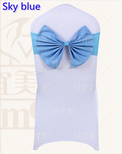 Wondrous Us 80 0 Sky Blue Colour Spandex Chair Sashes Wedding Chair Sash Lycra Stretch Band Bow Tie Hotel Party Show Decoration Butterfly In Chair Cover From Download Free Architecture Designs Sospemadebymaigaardcom