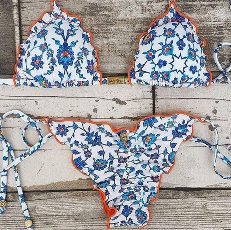 Sexy bikini summer beach bathingsuit New print women swimwear hot bandage biquini brazilian push up swimsuit maillot de bain