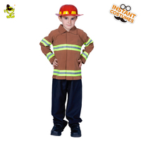 Fireman costumes boys play stage Career Suit Kids Halloween Cosplay Uniform For Kids Boys firefighters fire fighters