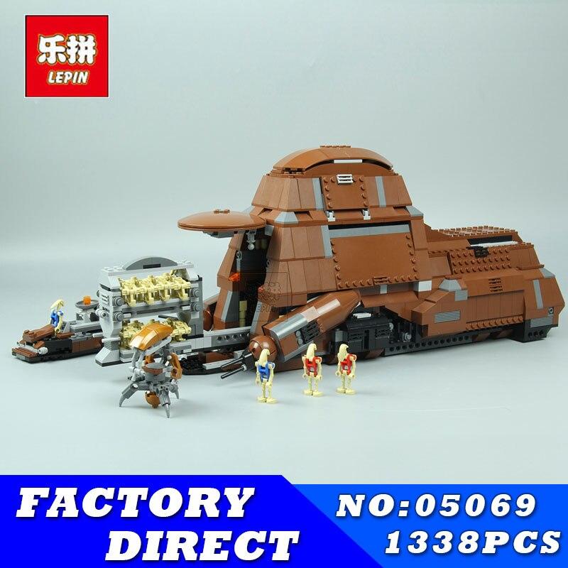 Fédération transport réservoir ensemble blocs LEPIN 05069 1338 pièces Star War série MTT enfants blocs de construction briques jouets modèle