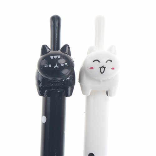 2pcs/lot  Kitten Cat Footprints Black Gel Ink Roller Pen For Drawing Stationery Tools Kid  Children Office School Supplies
