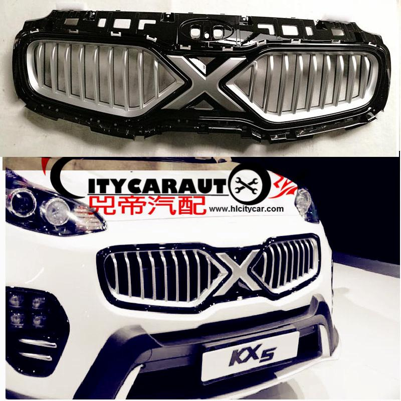 CITYCARAUTO TOP QUALITY AUTO FRONT GRILL GRILLE RACING GRILL COVER X-man version FIT FOR KIA SPORTAGE KX5 CAR 2016 2017 top quality front racing grill grille car styling fit for new kia sportage kx5 2016 2017 front grill racing grill with free ship
