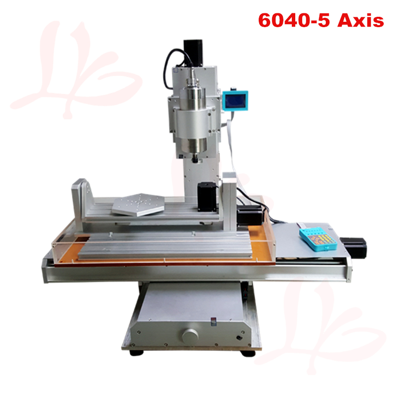 Column type 6040 <font><b>CNC</b></font> Machine 2.2KW 3 axis with rotation axis B axis Vertical engraving machine <font><b>CNC</b></font> router <font><b>60</b></font>*<font><b>40</b></font> with A axi image