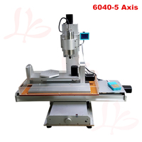 Column type 6040 CNC Machine 2.2KW 3 axis with rotation axis B axis Vertical engraving machine CNC router 6040 2.2KW with A axi