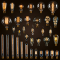 25 W 40 W 60 W T10 Lâmpada T185 Edison Vintage T225 T26 Lâmpada Incandescente E27 T30 Flauta Edison Lâmpada 110 V 220 V Casa decoração