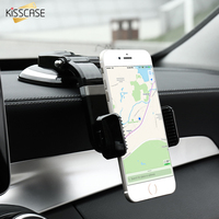 Universal Stretchable Car Phone Stand Holder For IPhone 6s 7 Plus KISSCASE Bright Black Sucker GPS
