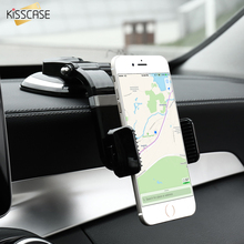 Universal Stretchable Car Phone Stand Holder For iPhone 6s 7 Plus KISSCASE Bright Black Sucker GPS Car Holder For Samsung Xiaomi