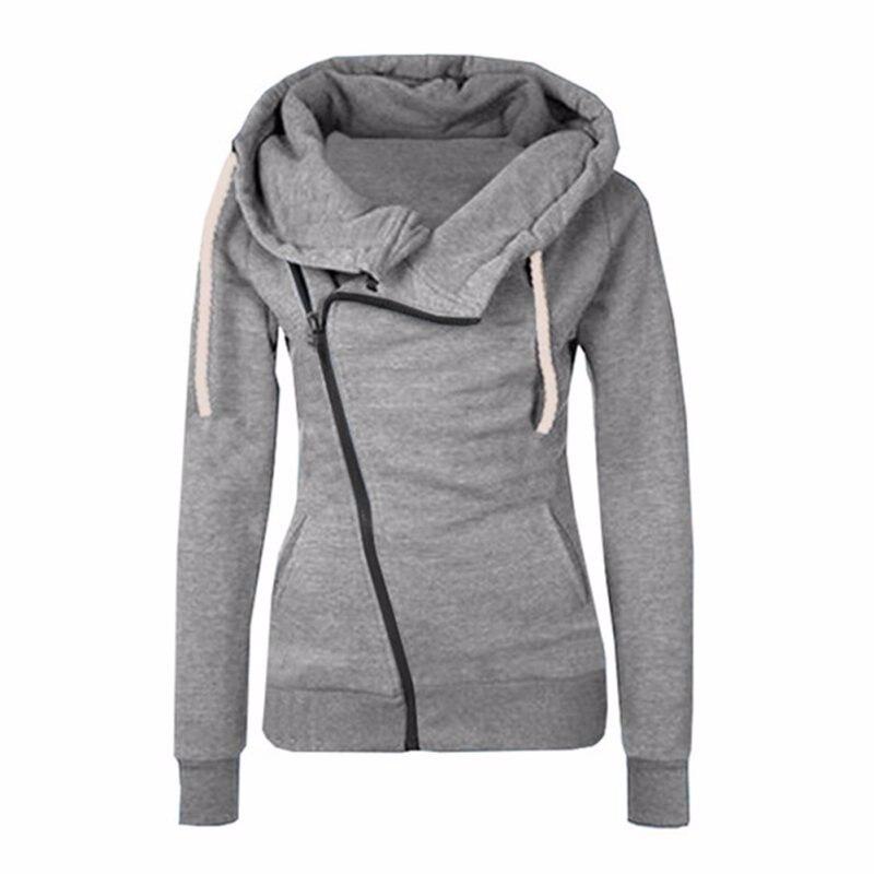 2016 neue Frauen Sweatshirts Einfarbig Mit Kapuze Jacke Langarm frauen Hoodie Reißverschluss Herbst Winter Frauen Mantel