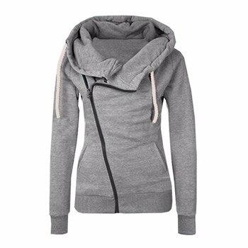 2019 הצעה מיוחדת פנדה Moletom חדש נשים חולצות מוצק צבע סלעית מעיל שרוול נשים של הסווטשרט רוכסן סתיו חורף מעיל