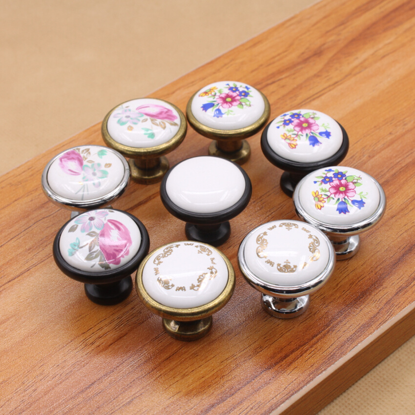 купить 8pcs/lot Vintage Round Cabinet Door Drawer Bin Handle Pull Knob Hardware 8 colors or Multicolour онлайн