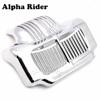 Motofans New Chrome Stock Oil Cooler Cover For Harley Touring Road Kings Street Electra Glides Trikes