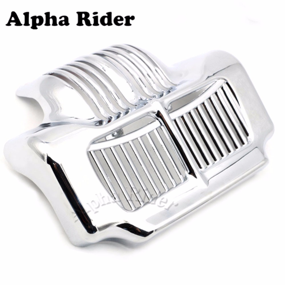 Motorcycle New Chrome Stock Oil Cooler Cover for Harley Touring Models Road Street Electra Glide Trikes 2011-2015 2014 2013 2012 abs plastic new silver stock oil cooler cover for harley fit touring electra road street glide 2011 2012 2013 2014 2015