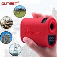OUTEST Digital Telescope Laser Rangefinder 1500m Laser Distance Meter 6X Monocular Golf hunting Laser Range Finder Speed finder